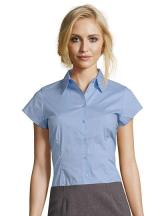 Ladies` Stretch-Blouse Excess Shortsleeve