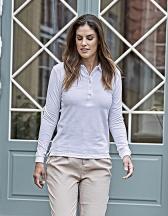 Womens Luxury Stretch Long Sleeve Polo