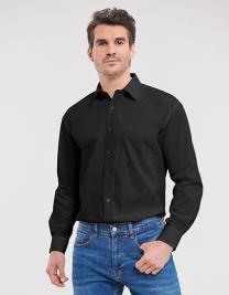 Men`s Long Sleeve Classic Pure Cotton Poplin Shirt